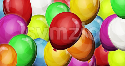 Dynamic Party Balloons Background For Game UI Stock Video