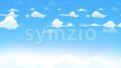Cartoon Clouds Background Seamless Looping Stock Video
