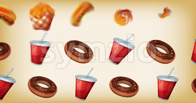 Fast food 2d Motion Graphics Background Stock Video