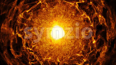 Fire Energy Wave Fx Background Animation Stock Video