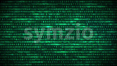 Binary Code Data Security Distort Background Stock Video