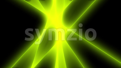 Abstract Green Light Rays Background Stock Video