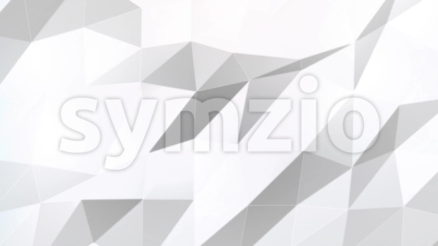 4k animation of clean soft white abstract low polygons background