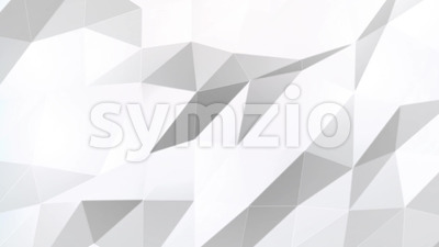 Abstract White polygons Background Stock Video