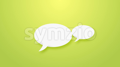Speech Bubbles Background Stock Video