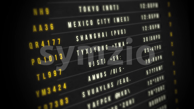 Airport Departure Board Stock Video