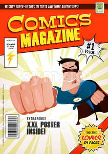 Comic Book Cover Template Stock Vector