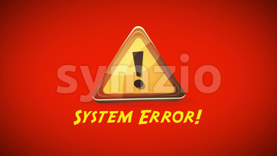 System Error Warning Background Stock Video