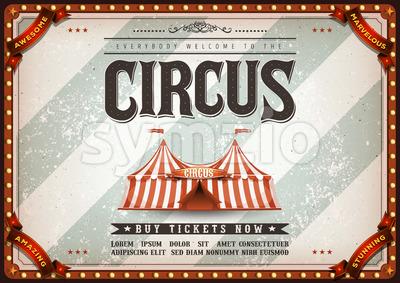 Vintage Design Horizontal Circus Poster Stock Vector