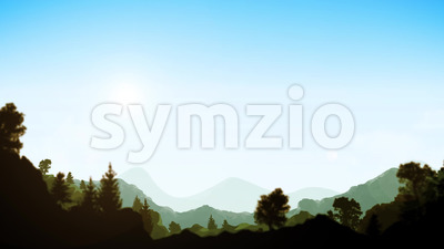Summer Mountains Landscape background Clip Stock Video