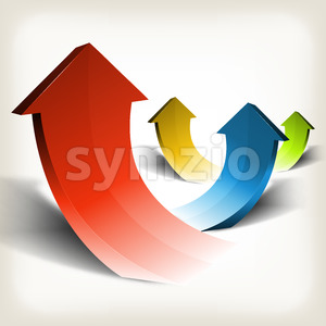 Business Success Arrows Stock Vector