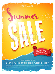 Summer Sale Template Banner Stock Vector