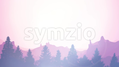 Summer Mountains Sunrise Background Clip Stock Video