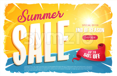 Hot Summer Sale Banner Stock Vector