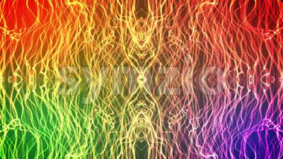 Kaleidoscope Light Patterns Background Stock Video