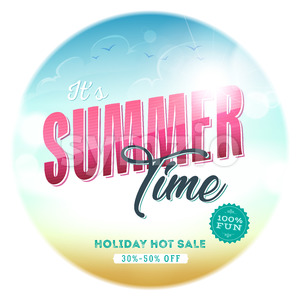Summer Time Template Badge Stock Vector