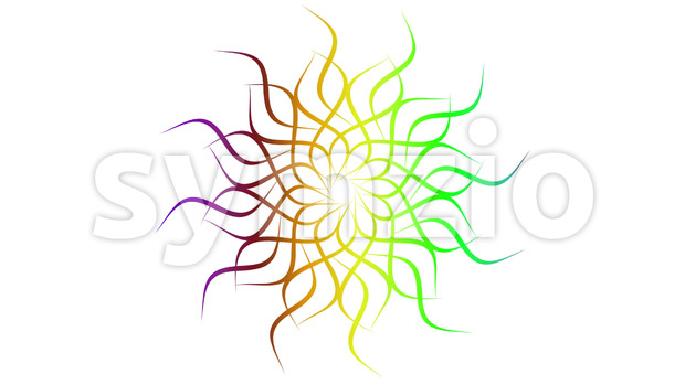 Animation of an abstract colorful looping mandala or celtic knot background