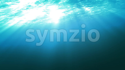 Ocean Surface Water Seen From Underwater Stock Video