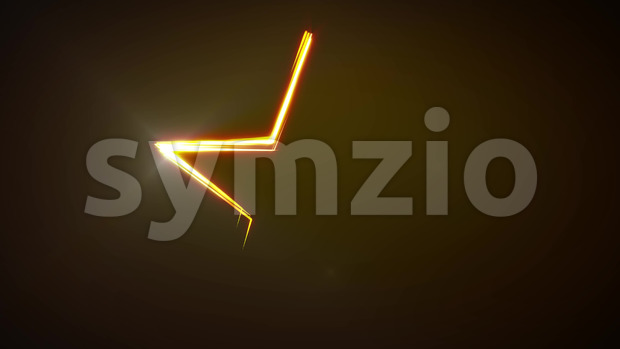 Animation of abstract shining star shape with light strokes following motion path, for festival, parties and holidays