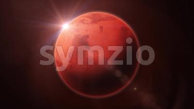 HD Mars Planet Rotation Loop Stock Video