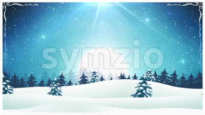 Retro Christmas Landscape Background Loop Stock Video
