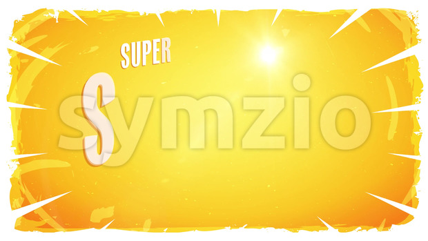Animation of a dynamic summer sale advertisement video template, one version with banner, text, shop button and elements