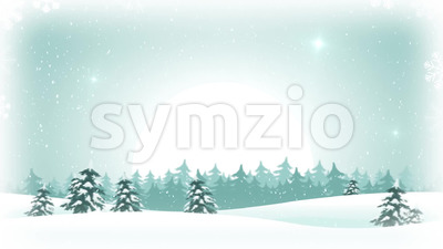 Christmas WInter Landscape Background Loop Stock Video