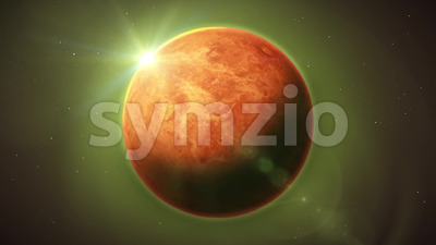 Venus Planet Inside Space Background Stock Video