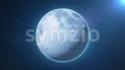 Beautiful HD Moonscape On Space Background Stock Video
