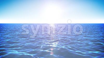 4k Summer Seascape Background Loop Stock Video