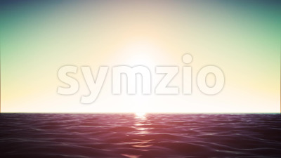 4k Ocean Horizon Background Loop Stock Video