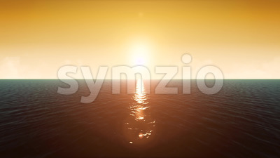 4k Sunset Ocean Landscape Loop Stock Video