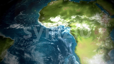 4k Earth Map View From Satellite Stock Video