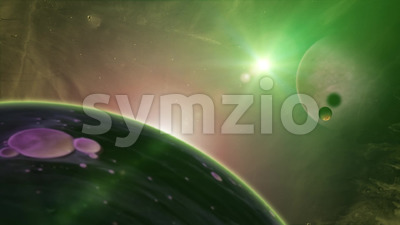 HD Fantasy Nebula Space Background Stock Video