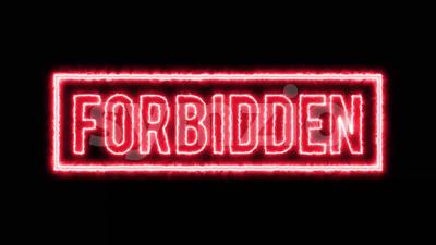 Forbidden Content Seal Certificate 4k Stock Video