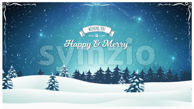 Vintage Christmas Landscape Background Stock Video
