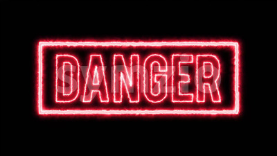 4k Warning Danger Background Stock Video