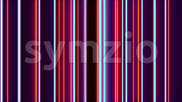 Abstract minimal animated background of elegant graphic vertical lines moving with light and colorful effect