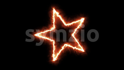 4k Burning Star Spinning Background Loop Stock Video