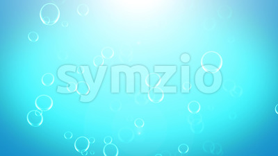Blue Water Bubbles And Foam Background Stock Video