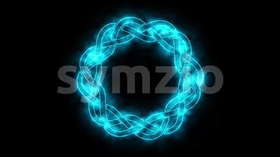 4k Haze Celtic Symbol Spinning Loop Stock Video