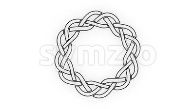 4k Black And White Celtic Knot Clip Stock Video
