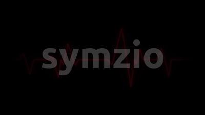 4k Scanner Heart Pulsation Wave Signal Stock Video
