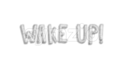 4k Doodle Wake Up text With Twitch Effect Stock Video