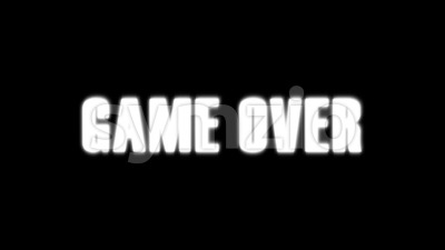 Game Over Background With Dirty Glitch Effect Stock Video