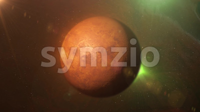 HD Alien Planet On Space And Stars Background Stock Video