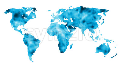 World Map With Mosaic Background Stock Video