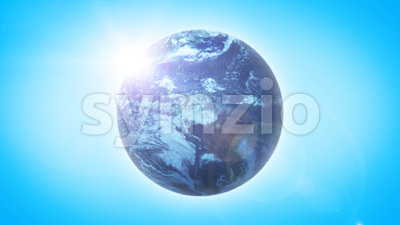 Beautiful HD Earth Planet On Sky Background Loop Stock Video