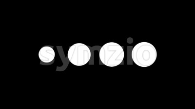 4k Flat Design Dots Simple Preloader Stock Video