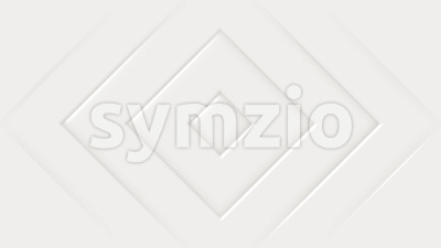 Abstract White Geometric Beveled Shapes Background Stock Video